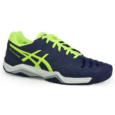 Asics Gel Challenger 11 Mens Tennis Shoe - Indigo Blue/Safety Yellow/Silver