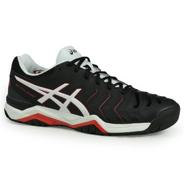 Asics Gel Challenger 11 Mens Tennis Shoe - Black/White/Vermilion