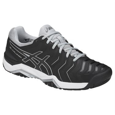 Asics Gel Challenger 11 Mens Tennis Shoe - Black/Mid Grey