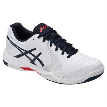 Asics Gel Game 6 Mens Tennis Shoe - White/Insignia Blue/Silver