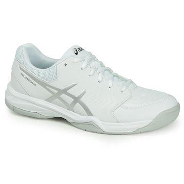 Asics Gel Dedicate 5 Mens Tennis Shoe - White/Silver