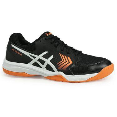 Asics Gel Dedicate 5 Mens Tennis Shoe - Black/White/Shocking Orange