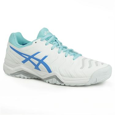 Asics Gel Challenger 11 Womens Tennis Shoe - White/Diva Blue/Aqua Splash