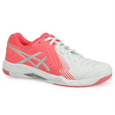 Asics Gel Game 6 Womens Tennis Shoe - White/Diva Pink/Silver