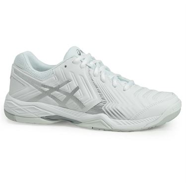 Asics Gel Game 6 Womens Tennis Shoe - White/Silver