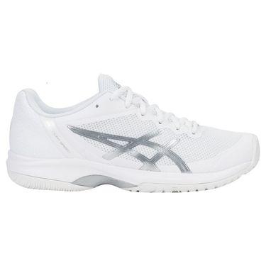 Asics Gel Court Speed Womens Tennis Shoe - White/Silver