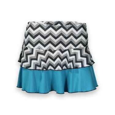 AdEdge Flounce Skirt - Chevron/Aqua