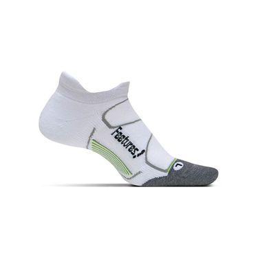 Feetures Elite Max Cushion No Show Tab Sock - White/Black