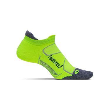 Feetures Elite Max Cushion No Show Tab Sock - Reflector/Carbon