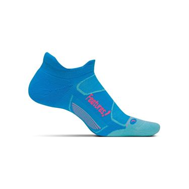 Feetures Elite Max Cushion No Show Tab Sock - Hawaiian Blue/Electric Pink