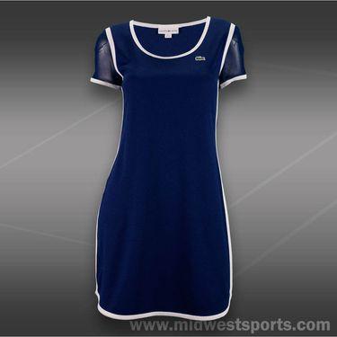 Lacoste Mesh Short Sleeve Dress-Methylene Blue