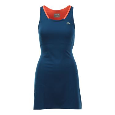 Lacoste Racerback Technical Trainer Dress - Raffia Matting Blue/Mango Tree Red