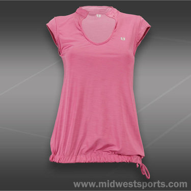 Eleven Rising Shot Cap Sleeve Top-Orchid