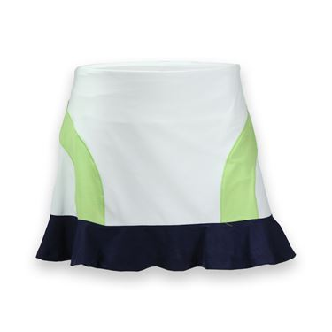 Eleven Brush Stroke 14.5 Inch Colorblock It Out Skirt - White