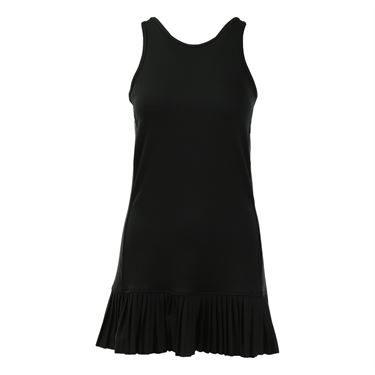 Inphorm Pleated Halter Dress - Black