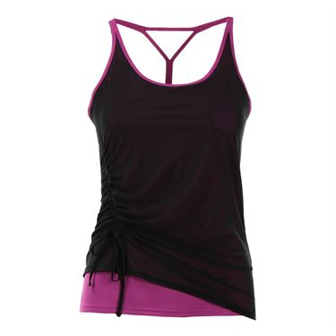 Inphorm Ruched Cami - Wild Berry/Black