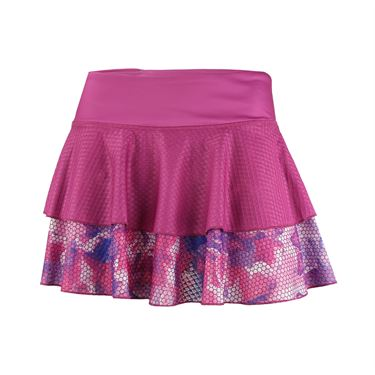 Solfire Bloom Peak 12.5 Inch Skirt - Raspberry Floral
