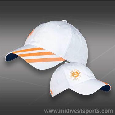 adidas Roland Garros Hat-White/Solar Zest