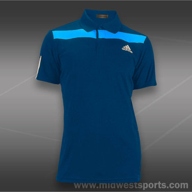 adidas Barricade Traditional Polo-Trible Blue