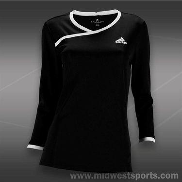 adidas Sequencials 3/4 Sleeve Top-Black