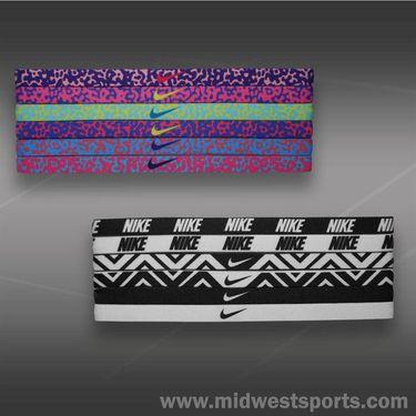 Nike Printed Headband Assorted 6 Pack