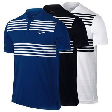 Nike Court Advantage Striped Polo