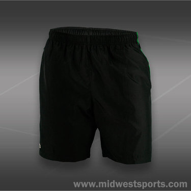 Lacoste Taffeta Print Sport Short-Black/Grass Green
