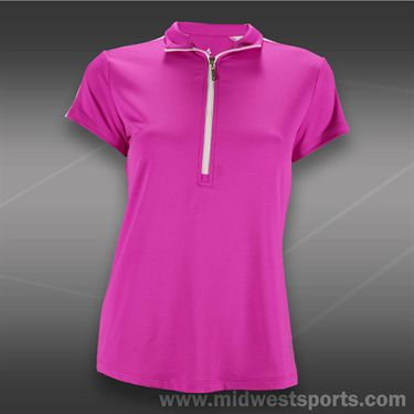 JoFit Lanai Amped Golf Top-Jo Pink