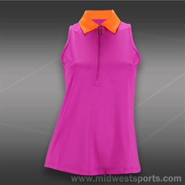 JoFit Lanai Pop Collar Sleeveless Polo-Jo Pink