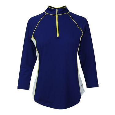 JoFit Limoncello 3/4 Sleeve Top - Blue Depth