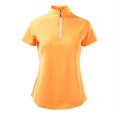 Jofit Sonoma Jacquard Mock Golf Top - Tangerine