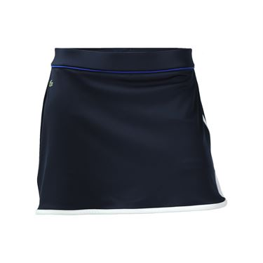 Lacoste Technical Contrast Tipped Skirt-Navy Blue/White