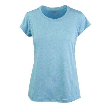 Prince Cap Sleeve Top - Turquoise Heather