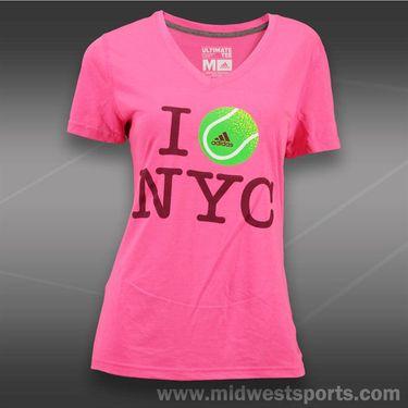 adidas Ultimate V-Neck Top-Solar Pink