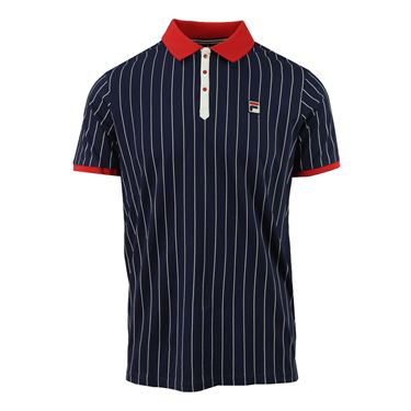 Fila Heritage BB1 Polo - Peacoat/Chinese Red/Gardenia