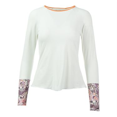 Denise Cronwall Mulberry Long Sleeve Top - White