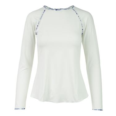 Denise Cronwall Nordica Long Sleeve Top - White