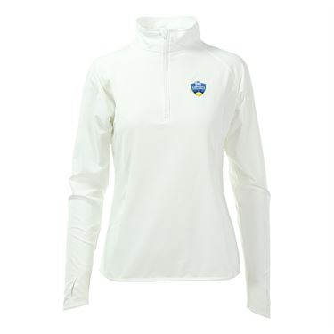 W&S Open Official Tournament Womens Poly 1/2 Zip-White