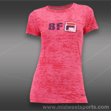 Fila Womens BFF T-Shirt-Shocking Pink