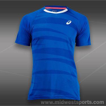 Asics Tennis Graphic Crew-Blue