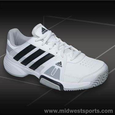adidas Barricade Team 3 Mens Tennis Shoe-White/Black/Onix
