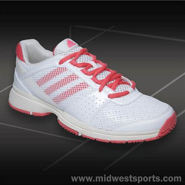 adidas Barricade Team 3 Womens Tennis Shoes-White/Pop Pink/Frost
