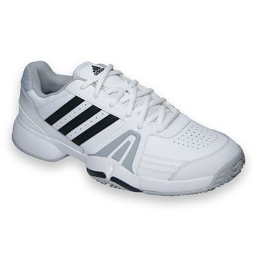 adidas Bercuda 3 Mens Tennis Shoe-White/Black/Onix