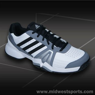 adidas Bercuda 3 Mens Tennis Shoe-White/Black/Grey