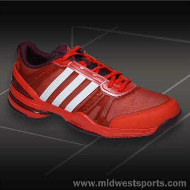 adidas CC Rally Comp Mens Tennis Shoe-Orange/White/Maroon