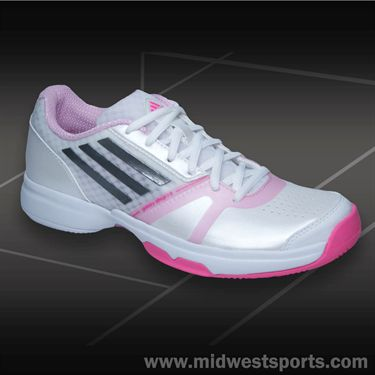 adidas Galaxy allegra III Womens Tennis Shoes-White/Iron/Pink