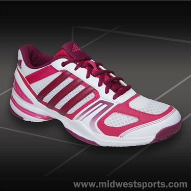 adidas Rally Court Womens Tennis Shoes-White/Tribe Red/Pink