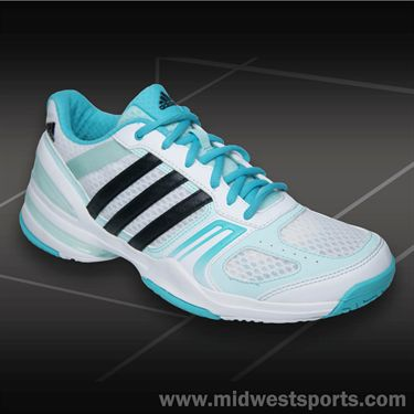adidas Rally Court Womens Tennis Shoes-White/Black/Mint
