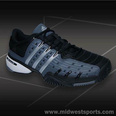 adidas Barricade V Classic Mens Tennis Shoe-Onix/Silver/Black
