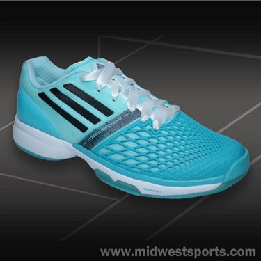 adidas CC adiZero Tempaia III Womens Tennis Shoes-Mint/Black